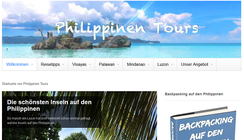 rueth online Website Philippinen Tours